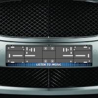 Listen to music feliratos rendszámtáblakeret